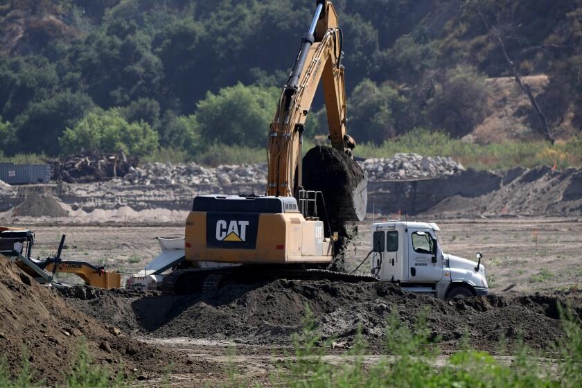 Devil's Gate Dam sediment removal project