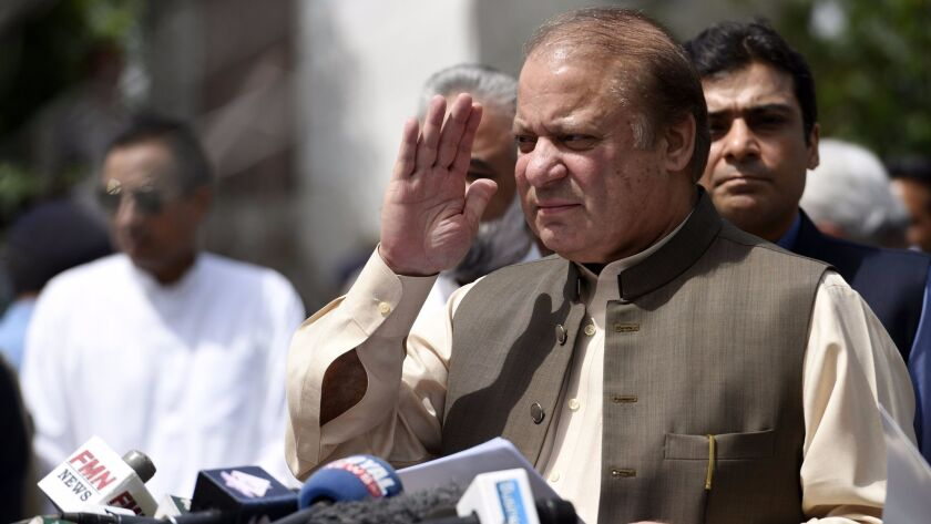 Supreme Court rules that Pakistan Prime Minister Sharif is disqualified from holding office