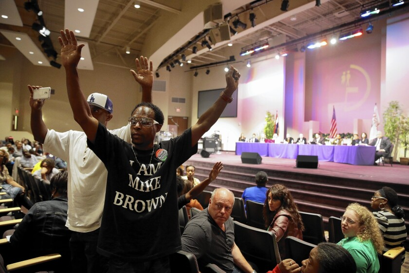 Ferguson City Council meeting