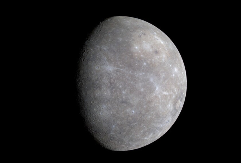 A body relatively rich in sulfur, similar to Mercury, shown here, may have mashed up with Earth and made our protective magnetic field possible, scientists say.