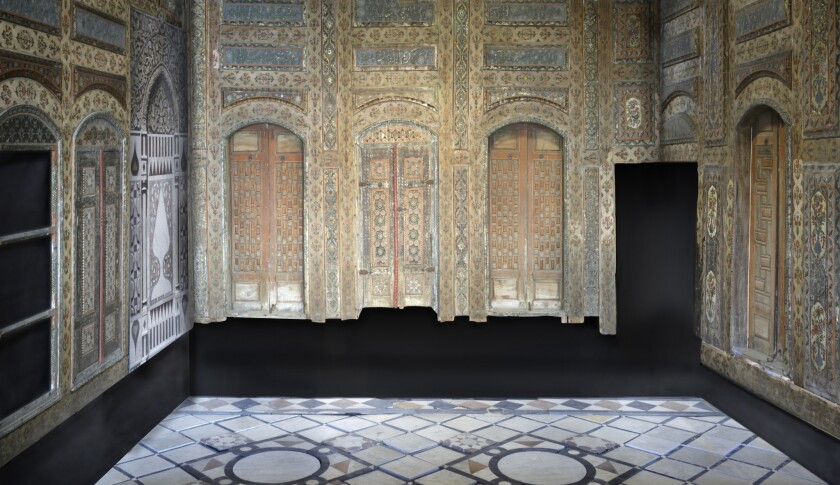 In its permanent collection, the L.A. County Museum of Art harbors a rare 18th century interior from Damascus, Syria. It contains painted wood walls, inlaid stone floors, and an intricate stone fountain -- objects now receiving conservation treatment.