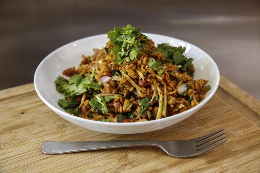 The crispy rice salad (nam khao tod) from Night + Market.