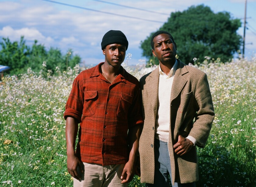 "Jimmie Fails and Jonathan Majors in Joe Talbot's ""The Last Black Man in San Francisco."""