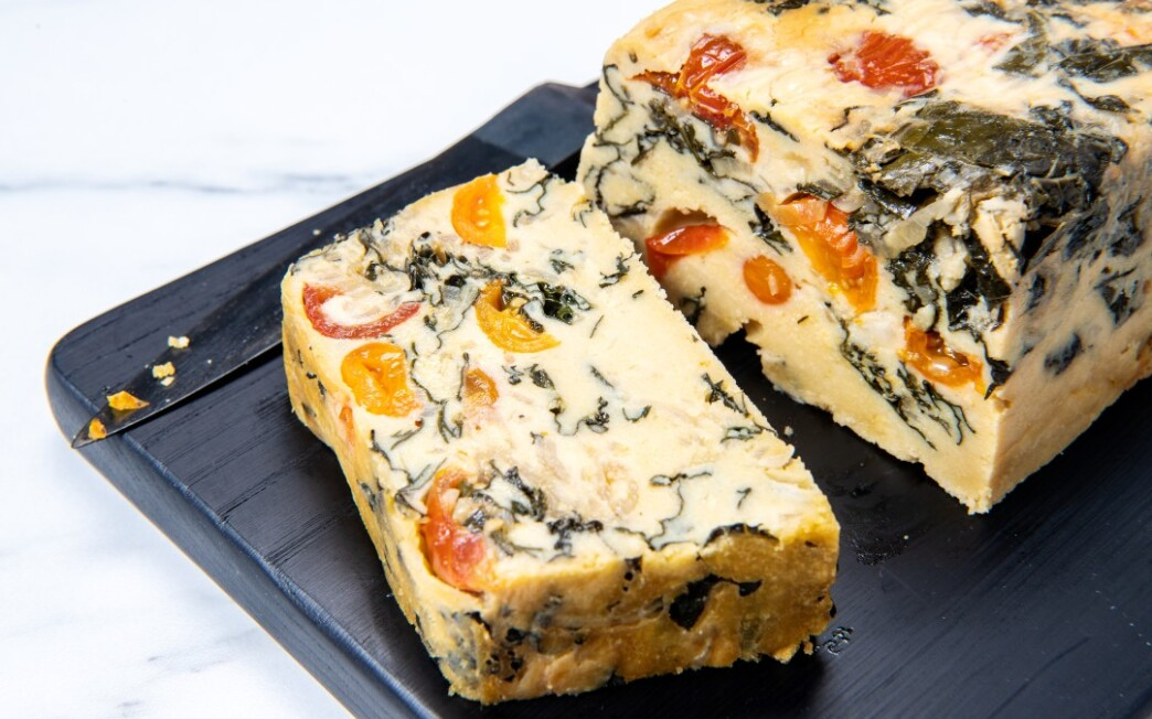 Chickpea Frittata With Tomatoes and Kale