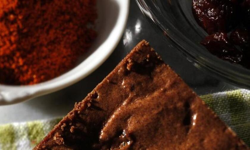 There's a cayenne kick in these. Recipe: Spicy cherry chocolate brownies