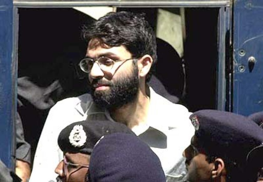 Ahmed Omar Saeed Sheikh, shown in court in 2002, was convicted of murdering American journalist Daniel Pearl.