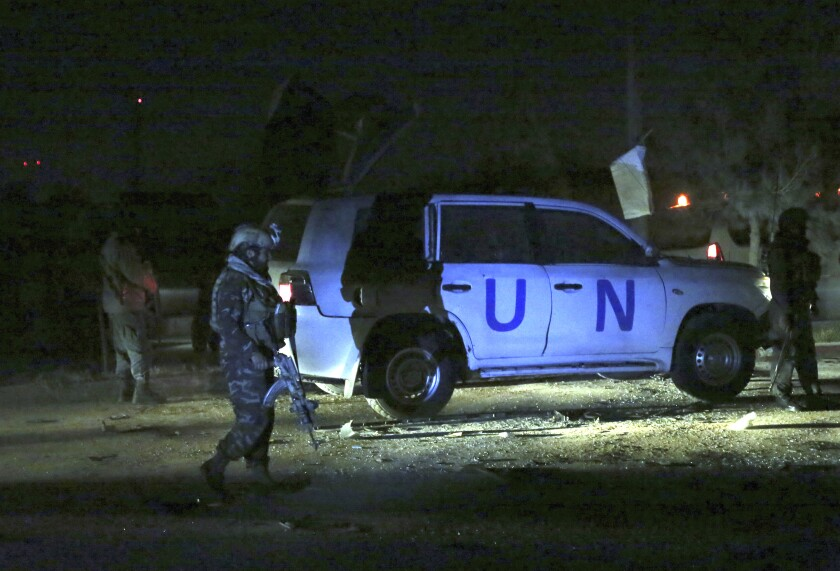 Bombing targets United Nations vehicle in Kabul, Afghanistan