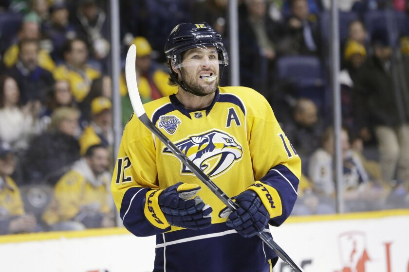 timeless design acd65 4bd37 Predators name Mike Fisher 7th captain in franchise history ...
