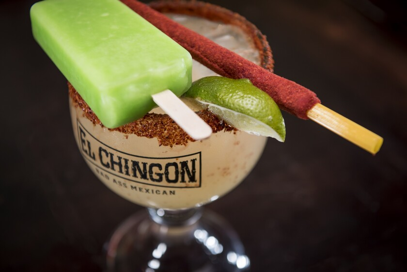 "El Chingon's over-the-top ""Bad Ass"" Margarita."