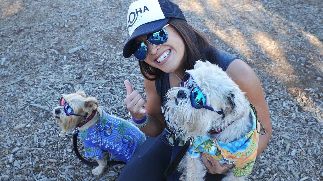Four-legged friends joined their human counterparts at the 5K Paw Walk in the Garden at the San Diego Botanic Garden on Saturday, Feb. 18, 2018.