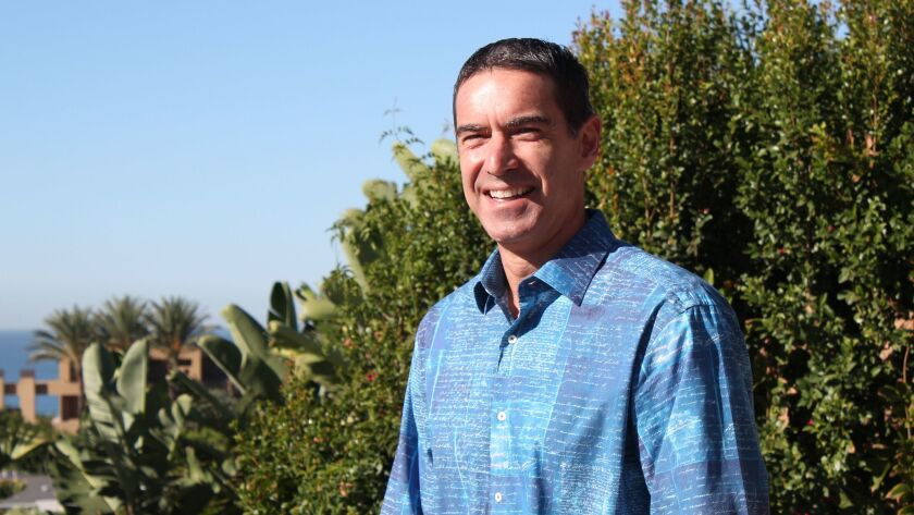 Michael Nance at his home in Bird Rock