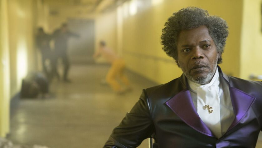 """Samuel L. Jackson in a scene from """"Glass,"""" a crossover of M. Night Shyamalan's """"Unbreakable"""" and """"Split"""" hits."""