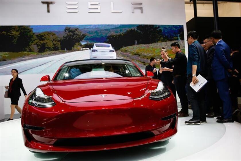 Vista del vehículo Tesla Model 3. EFE/Archivo