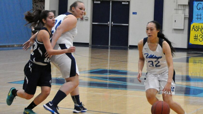 Marina junior guard Katie Nguyen. She is one of the first team selections for the Daily Pilot GirlsÃ