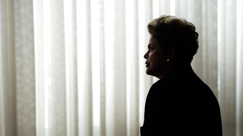"""""""You always have to fight,"""" says Dilma Rousseff, Brazil's suspended president. """"There's never a day when you're finally free. At least for me, there never has been so far."""""""