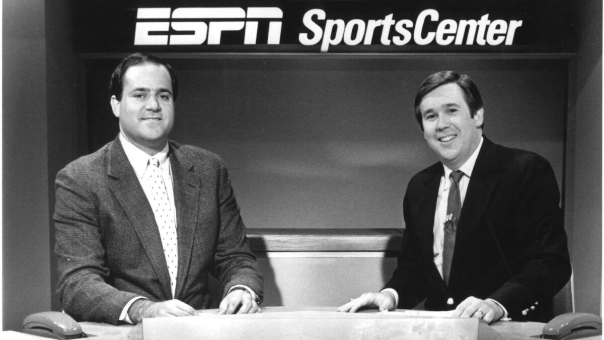 Espn Anchor Bob Ley Retires After 40 Years With The Network Los Angeles Times