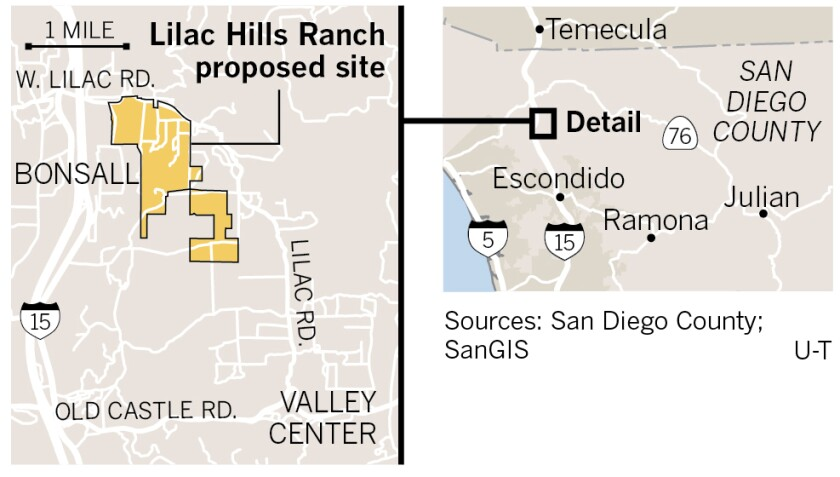 proposed Lilac Hills Ranch site