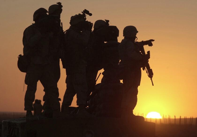 U.S. Marines at Afghanistan's Kandahar airport.