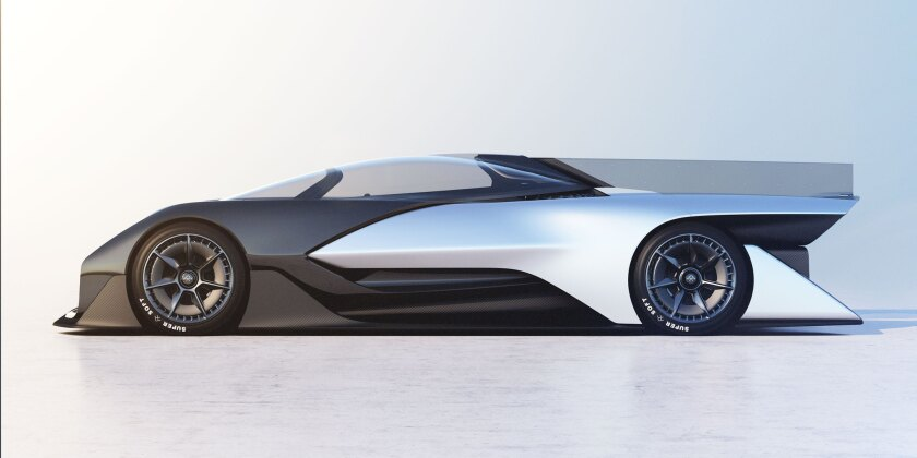 Faraday's FFZERO1 concept car was unveiled at CES in Las Vegas.