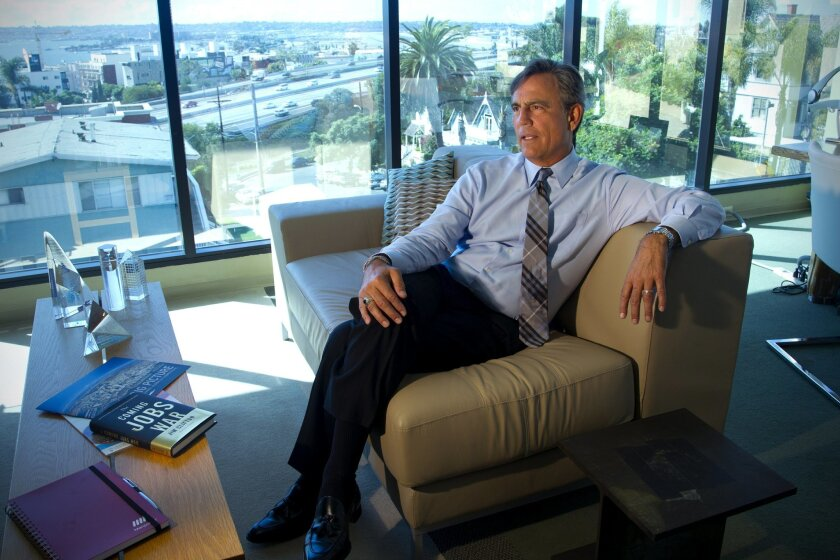 Manpower San Diego CEO Phil Blair in his Bankers Hill office.