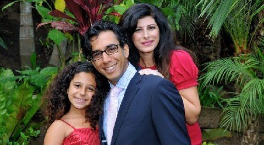 Sean and Marjan Daneshmand, who founded Miracle Babies in 2009, are seen here with their daughter Natalie, who was born six weeks premature. Courtesy photo