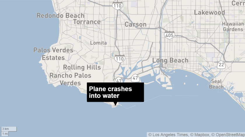 Plane crashes in water near L.A. Harbor