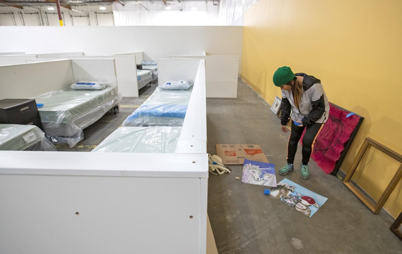 Photo Gallery: Interim emergency homeless shelter in Anaheim