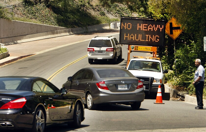 Beverly Hills traffic control officers restrict access to Loma Vista Drive following a tragic accident last Friday.