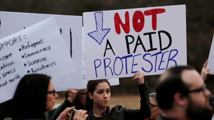 Not a paid protester