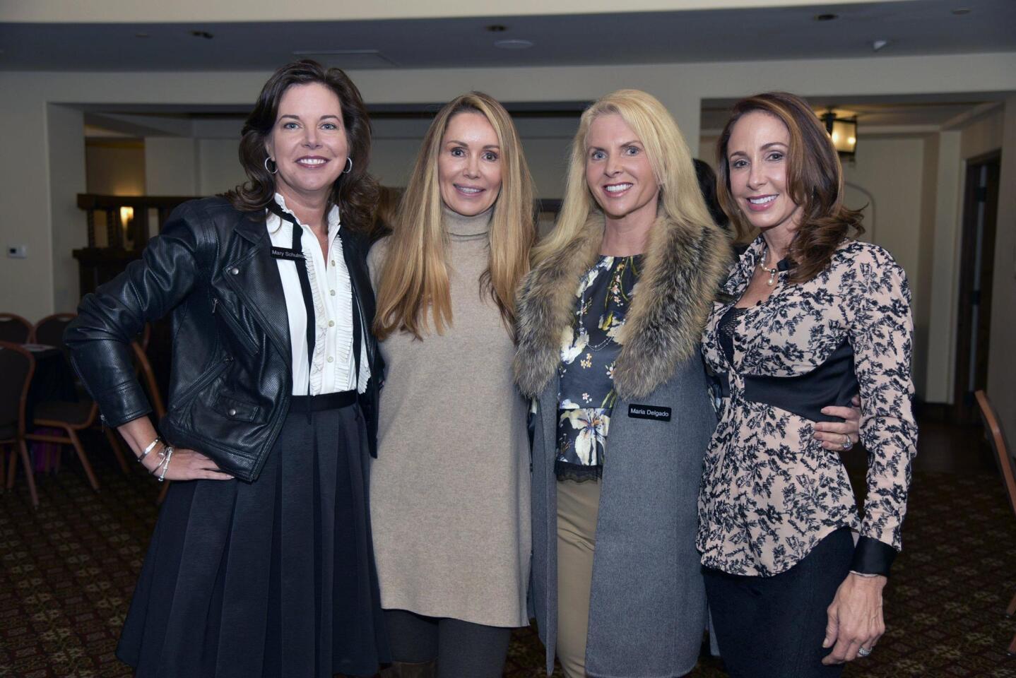 Mary Schulman, Robin Hudgens, Incoming Grant Co-Chairs Maria Delgado and Tamara La Farga-Joseph