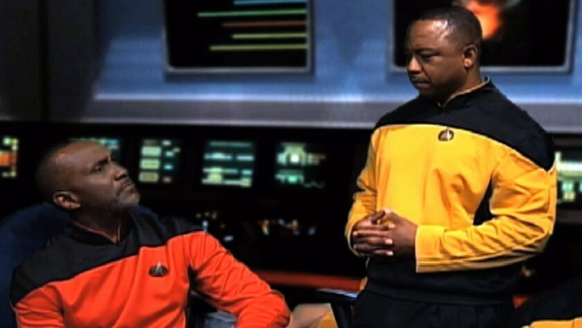 "IRS workers portray ""Star Trek"" characters in a training video."