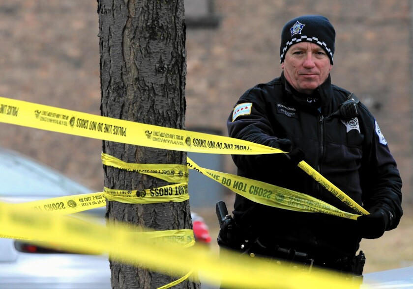 The scene of a recent fatal shooting in Chicago.
