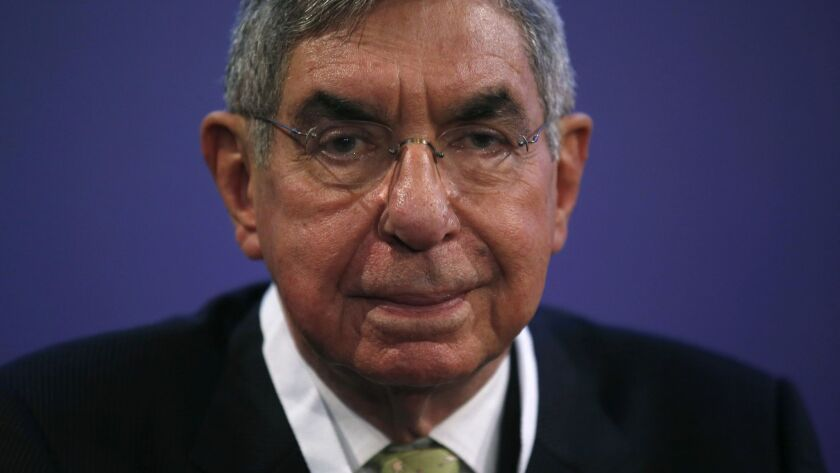 1987 Nobel peace laureate and former president of Costa Rica, Oscar Arias, shown here in a Nov. 13, 2015, file photo, has been accused of sexual assault by multiple women.