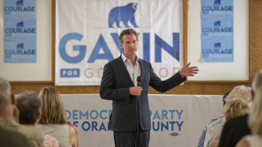 California Lt. Governor Gavin Newsom.