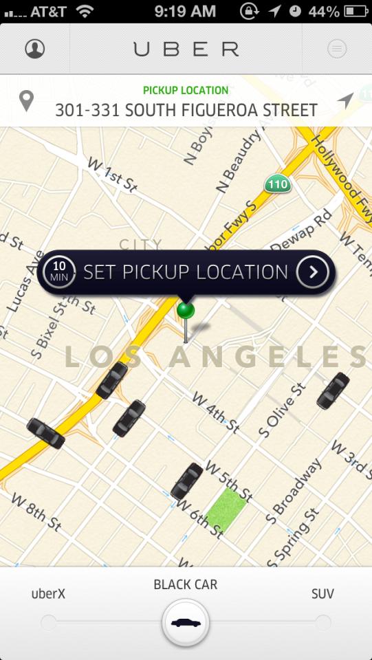 Uber smartphone app