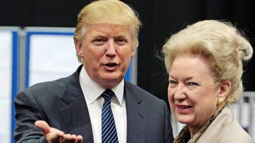 Trump's sister reportedly retires as federal judge in Philadelphia amidst probe of family finances