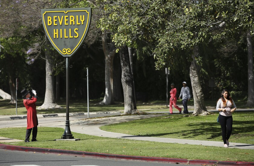 Beverly Hills will have to cut water use to comply with Gov. Jerry Brown's drought order.