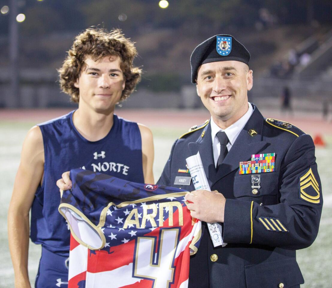 Del Norte High's Military and First Responder Night - 9/7/2018