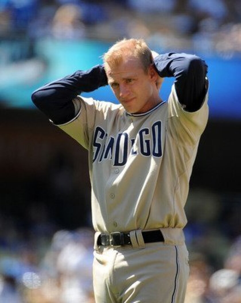 Second baseman David Eckstein was placed on the 15-day disabled list Monday with a first-degree strain of his right hamstring.