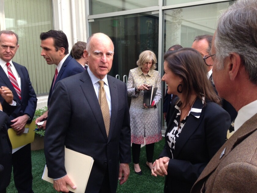 Jerry Brown and mayors