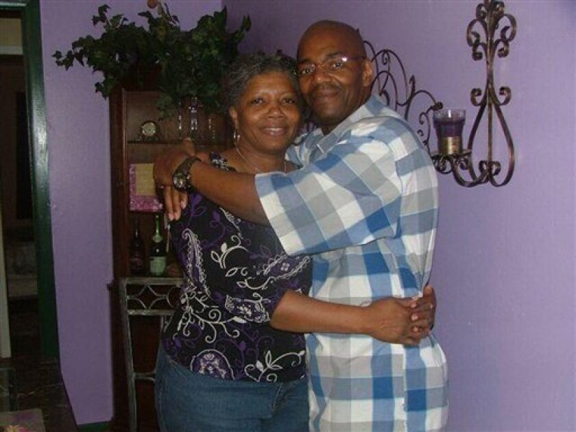 This undated handout photo provided by The Innocence Project shows Cornelius Dupree Jr., right, and his wife Selma Perkins Dupree. Dupree, who made parole six months ago, was declared innocent Monday, Jan. 3, 2011 of a rape and robbery that put him in prison for 30 years, more than any other DNA exoneree in Texas. (AP Photo/Courtesy of The Innocence Project, ho)