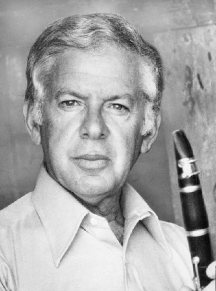 Mitchell Lurie, shown in 1982, was the principal clarinetist for the Pittsburgh Symphony and then the Chicago Symphony in the late 1940s. He then launched a long career in Hollywood as a top clarinetist for film studios.