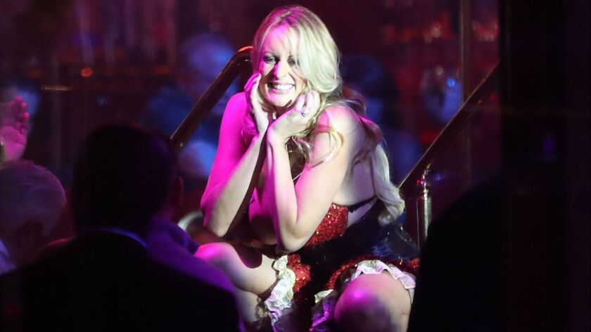 Stormy Daniels performs March 9th at a strip club in Pompano Beach, Fla.