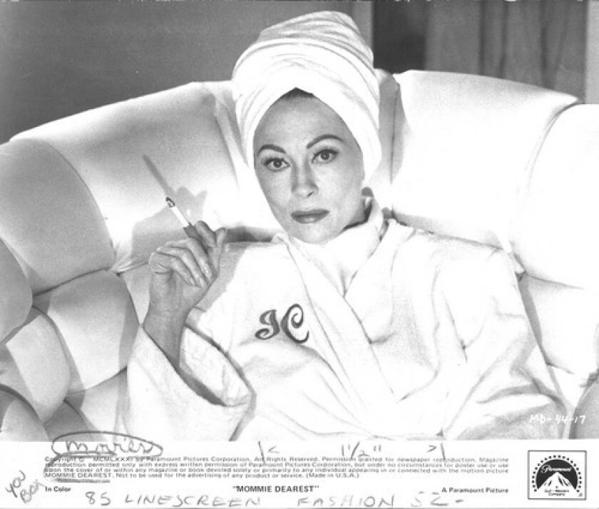 'MOMMIE' KNEW: Joan Crawford — and Faye Dunaway, above, who played her in a film — realized that a face is forever.