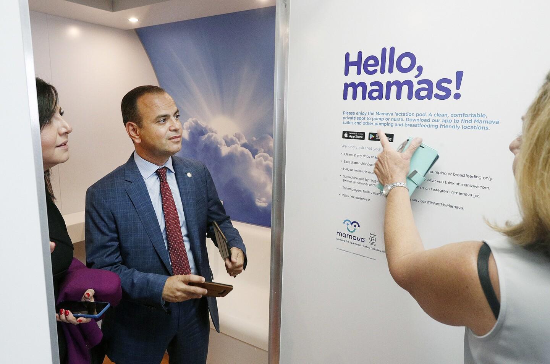 Photo Gallery: Newly installed Mamava pumping and breastfeeding station at Hollywood Burbank Airport