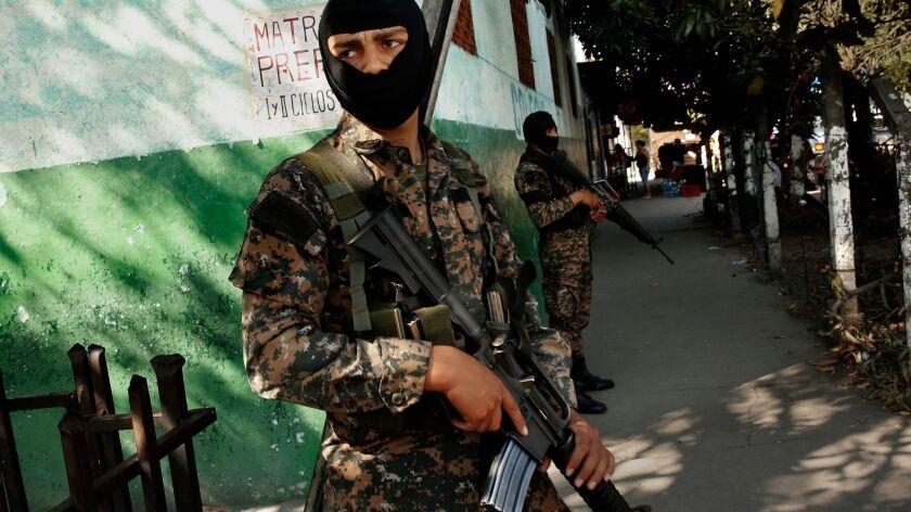 SAN SALVADOR, EL SALVADOR--Feb. 9, 2017--El Salvador's gang violence made it the murder capital of t