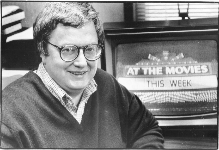 Roger Ebert shown in 1982.