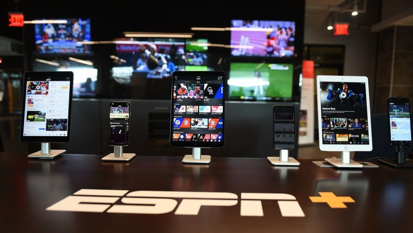 ESPN is launching a streaming video service called ESPN+. Subscribers will have on-demand access to thousands of live events.