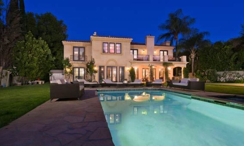 """Tori Spelling and Dean McDermott's Encino home was featured in their reality show """"Tori & Dean: Home Sweet Hollywood."""""""