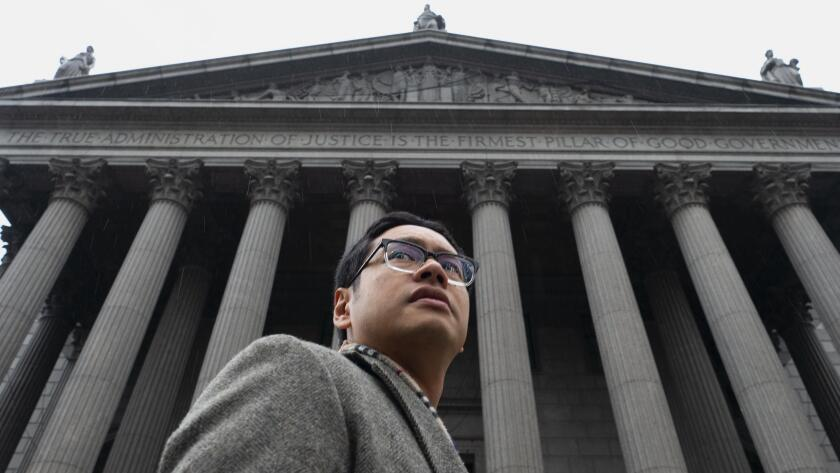ACLU attorney Dale Ho at the Supreme Court, where he successfully argued against a citizenship question on the U.S. census.